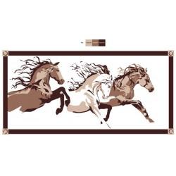 "FAULKNER Patio Mat ""Horses""..."