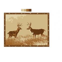 """FAULKNER Patio Mat """"Deer""""..."""